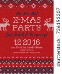 ugly sweater christmas party...   Shutterstock .eps vector #726193207