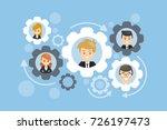 team work gears concept... | Shutterstock .eps vector #726197473