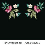 flowers embroidery  pattern... | Shutterstock .eps vector #726198217