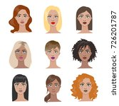 female hairstyles set. all... | Shutterstock .eps vector #726201787