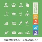 education icon set vector | Shutterstock .eps vector #726203377