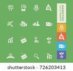 marketing icon set vector | Shutterstock .eps vector #726203413
