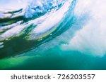 wave underwater. ocean in... | Shutterstock . vector #726203557