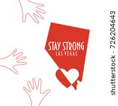 stay strong las vegas vector... | Shutterstock .eps vector #726204643