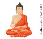 gautama buddha with raised... | Shutterstock .eps vector #726219487