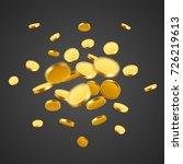 falling coins  falling money ... | Shutterstock .eps vector #726219613