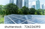 solar panels with cityscape of... | Shutterstock . vector #726226393
