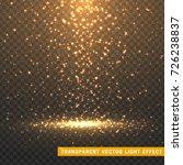 glowing glitter light effects... | Shutterstock .eps vector #726238837