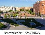 residential area park in madrid ... | Shutterstock . vector #726240697