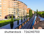 residential area and tram line... | Shutterstock . vector #726240703