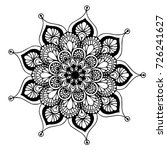 mandalas for coloring book.... | Shutterstock .eps vector #726241627