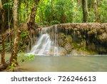 huay mae khamin waterfall in... | Shutterstock . vector #726246613