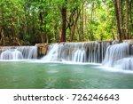 huay mae khamin waterfall in... | Shutterstock . vector #726246643