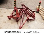 big angle brackets and bamboo... | Shutterstock . vector #726247213