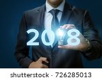 2018 ideas concepts with... | Shutterstock . vector #726285013