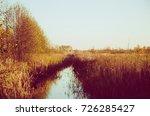 rural autumn vintage landscape... | Shutterstock . vector #726285427