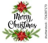 christmas design composition... | Shutterstock .eps vector #726287173