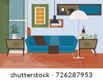 living room with furniture.... | Shutterstock .eps vector #726287953