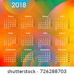 english calendar for 2018 on... | Shutterstock .eps vector #726288703