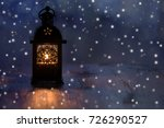 christmas lantern with... | Shutterstock . vector #726290527
