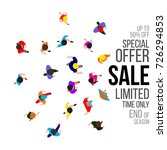 top view people on sale event.... | Shutterstock . vector #726294853