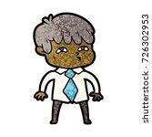 cartoon curious man   Shutterstock .eps vector #726302953