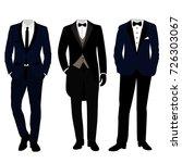 wedding men's suit and tuxedo....   Shutterstock .eps vector #726303067