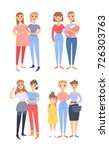 set of different couples and... | Shutterstock .eps vector #726303763