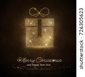 gold glitter gift box icon.... | Shutterstock .eps vector #726305623