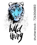 Wild Thing Lettering. Hand...