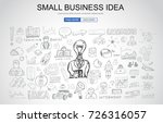 small business idea concept... | Shutterstock .eps vector #726316057