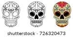 day of the dead  dia de los... | Shutterstock .eps vector #726320473