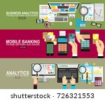 mobile payments.analytics... | Shutterstock .eps vector #726321553
