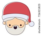 santa claus man kawaii face...   Shutterstock .eps vector #726321823