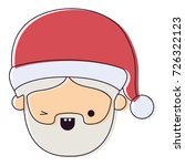 santa claus man kawaii face...   Shutterstock .eps vector #726322123