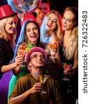 dance party with group people... | Shutterstock . vector #726322483
