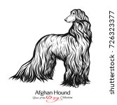 afghan hound. black and white... | Shutterstock .eps vector #726323377