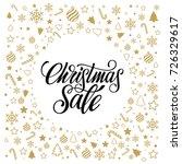 christmas sale. banner or... | Shutterstock .eps vector #726329617
