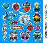 dia de los muertos   day of the ... | Shutterstock .eps vector #726330793
