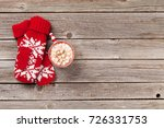 christmas background with... | Shutterstock . vector #726331753