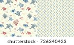 set of two repeat pattern all... | Shutterstock .eps vector #726340423