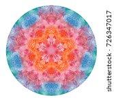 watercolor mandala. decor for... | Shutterstock . vector #726347017