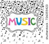 music notes background.  vector ... | Shutterstock .eps vector #726355423