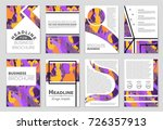 abstract vector layout... | Shutterstock .eps vector #726357913