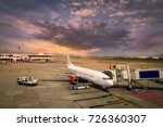airplane ready for boarding in... | Shutterstock . vector #726360307