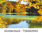 autumn scenery in park   golden ... | Shutterstock . vector #726363343