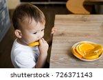 beautiful baby boy in the... | Shutterstock . vector #726371143