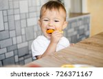 beautiful baby boy in the... | Shutterstock . vector #726371167