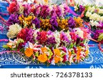 garlands of flowers in french... | Shutterstock . vector #726378133