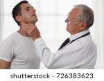 man getting thyroid gland... | Shutterstock . vector #726383623